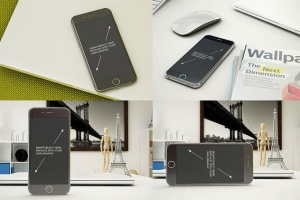 11个逼真的iphone设备样机模板 Phone Mockup – 11 Poses插图2