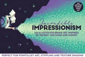 令人难以置信印象派点画绘画效果AI画笔笔刷 Incredible Impressionism | Brushes插图(1)
