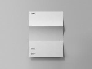 折叠信纸设计预览效果图样机 Folded Letter Mockup插图1