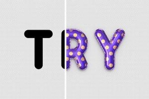 金箔气球文本效果字体特效样式PSD分层模板 Foil Balloon Text Effects插图7