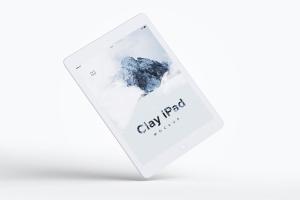 iPad平板电脑UI界面设计黏土样机06 Clay iPad 9.7 Mockup 06插图1
