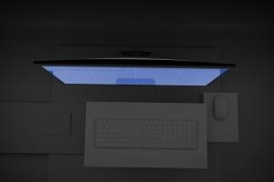 暗黑背景iMac Pro苹果一体机电脑样机模板 Dark iMac Pro插图10