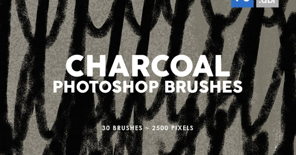 30款木炭纹理PS印章图案笔刷插图