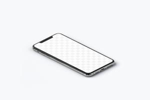 iPhone XS Max智能手机等距左视图样机 iPhone XS Max Mockup, Isometric Left View插图3