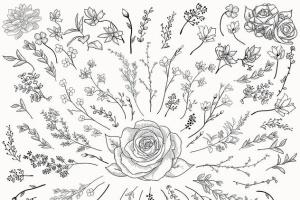 手绘花卉图案AI笔刷合集 Flexible Floral Brushes插图7