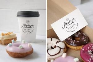 咖啡甜品牌样机模板 Coffee Doughnut Mockup插图5