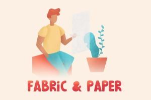 28种织物和纸张肌理纹理Procreate笔刷 Fabric & Paper Procreate Brushes插图(3)