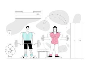 一流设计素材网下午茶:个性的生活场景插画素材下载[Ai]插图5