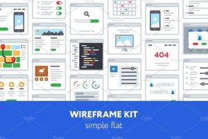 超实用 UX 线框图套件 UX Wireframe kit插图1