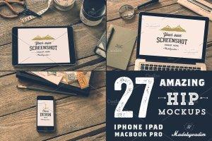 27款高分辨率Apple设备样机合集 27 Hip Apple devices Mockups插图2
