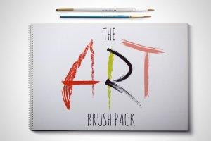手绘艺术AI画笔笔刷 Art Brush Pack for Illustrator插图1