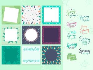 一流设计素材网下午茶:春季广告banner设计矢量素材[Ai]插图3