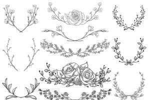 手绘花卉图案AI笔刷合集 Flexible Floral Brushes插图6