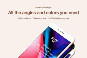 APP UI设计展示iPhone 8样机模板 HERO Phone 8 Mockups插图2