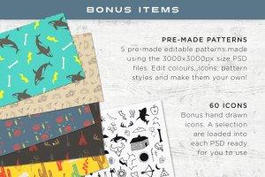 快捷图案纹理背景生成器 PSD Pattern Creator插图3
