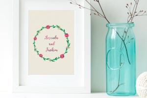 水彩花卉绘画图案&AI画笔笔刷 Illustrator Floral Art & Pattern Brushes插图(4)