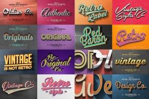 50款经典复古文本文字效果图层 50 Vintage Text Effects Bundle插图3