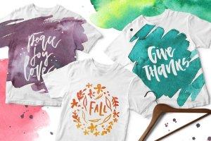 水彩纹理&图层样式设计套装 Watercolor Magic – design kit插图10