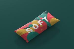 时尚多彩长矩形沙发卧室枕头样机模板 Pillow Mockup – Long Rectangle插图3