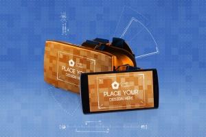 虚拟现实VR眼镜智能设备动画样机 Animated VR MockUp插图3