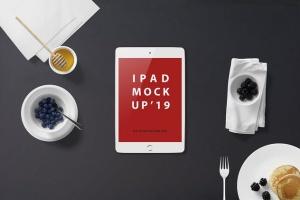西式早餐场景iPad Mini设备展示样机 iPad Mini Mockup – Breakfast Set插图7