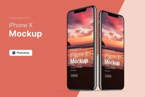APP界面设计截图预览iPhone 8手机样机模板v3 Presentation Kit – iPhone showcase Mockup插图5