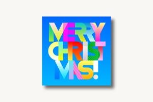 圣诞节主题装饰文字矢量图形素材 Merry Christmas decorative text (two options)插图(1)