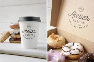 咖啡甜品牌样机模板 Coffee Doughnut Mockup插图4