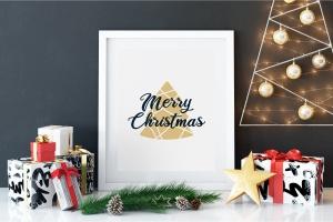 圣诞树矢量插画圣诞节主题T恤印花设计模板 Merry Christmas T-Shirt. Vector Print, Tree SVG插图(4)