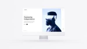 网站UI界面设计效果图预览白色iMac电脑样机模板 White iMac Mockup插图2