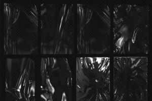 塑料伸缩膜包装效果图PSD分层模板 Plastic Foil Wrap Overlays插图2