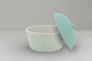 浮雕陶瓷餐具样机模板 Ceramic Pot Packaging MockUp插图10