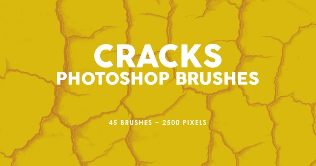 45个逼真裂纹PS印章笔刷合集 45 Cracks Photoshop Stamp Brushes插图