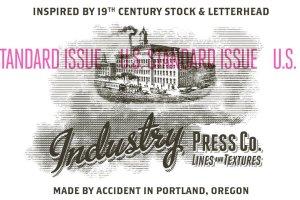 复古压纹印刷效果PS笔刷 IndustryPress – Lines & Textures插图1