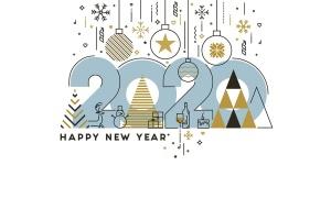 扁平设计风格彩色线条新年庆祝主题概念插画素材 Flat Thin Color Line Concept of Happy New Year插图4