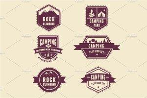 生存工具包图标和露营信息图 Survival Kit, camping infographics插图5