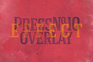 复古活版印刷效果图层样式 Vintage Letterpress Effects Vol.2插图11