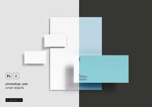 基础办公用品企业品牌VI设计预览样机模板 Basic Branding Mockup插图2