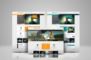 网站设计效果图多视觉预览样机模板 Website Display Mockup插图2
