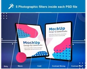 iPad Pro平板电脑UI设计屏幕预览效果图样机 Abstract iPad Pro Mockup插图9