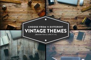 12款复古风巨无霸场景广告模板 12 Vintage Hero Images (+ Bonus)插图2