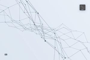 带连接线粒子抽象图形PS笔刷 Particles with Connected Lines Photoshop Brushes插图10