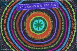 仿真缝纫和刺绣针织效果Photoshop套件 Sewing & Embroidery Photoshop Kit插图2