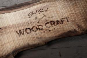 木刻/实木雕刻Logo效果图样机模板 Wood Logo Mockups插图4