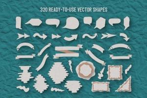可爱剪纸艺术插画AI设计素材 Paper Kingdom Illustrator Graphic Styles插图12