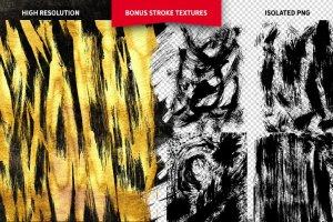 浮雕&扁平金属效果图层样式大合集 Gold Paint Effect for Photoshop插图13