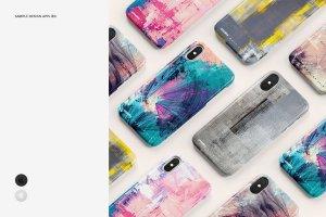 逼真的iPhone X塑料材质手机壳样机展示模型mockups插图4