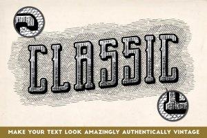复古雕刻线条图案纹理AI图层样式 Vintage Engraved Patterns插图4