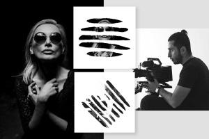 图片条纹笔刷蒙版遮罩PSD分层模板 Stripes Brush Photo Templates Vol 2插图3