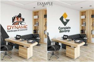 办公室墙纸设计样机模板合集 OFFICE Interior Wall Mockup Bundle插图3